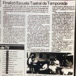 1987 - Finaliza la Cuarta Escuela Héctor Duvauchelle - El Sur