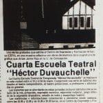 1987 - Inicio de la Cuarta Escuela Héctor Duvauchelle - El Sur