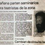 1987 - Inicio de seminarios para teatristas - El Sur
