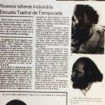 1987 - La Cuarta Escuela Héctor Duvauchelle incluirá nuevos talleres artísticos - El Sur
