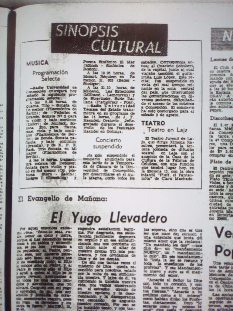 1975 - Teatro Juvenil de Laja - El Sur 5 de julio
