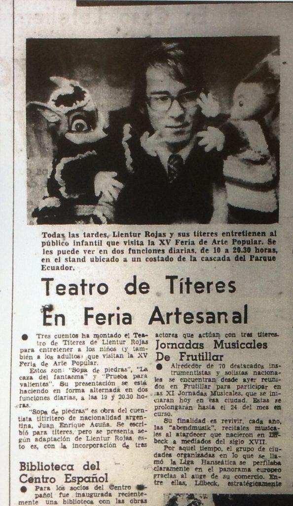 1979 - Sopa de piedras - El Sur 13 de febrero