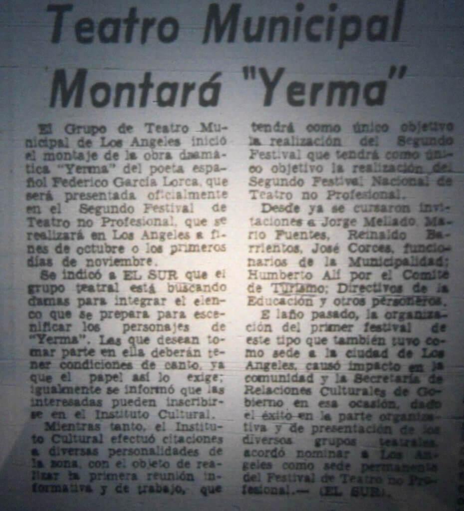 1980 - Yerma - El Sur 25 de julio