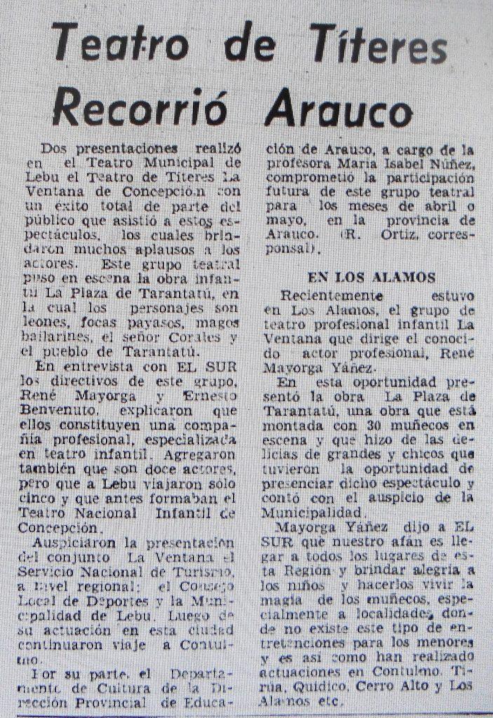 1980 - La Plaza de Tarantatú - El Sur 24 de marzo