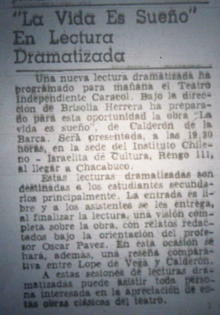 1980 - La vida es sueño - El Sur 20 de julio