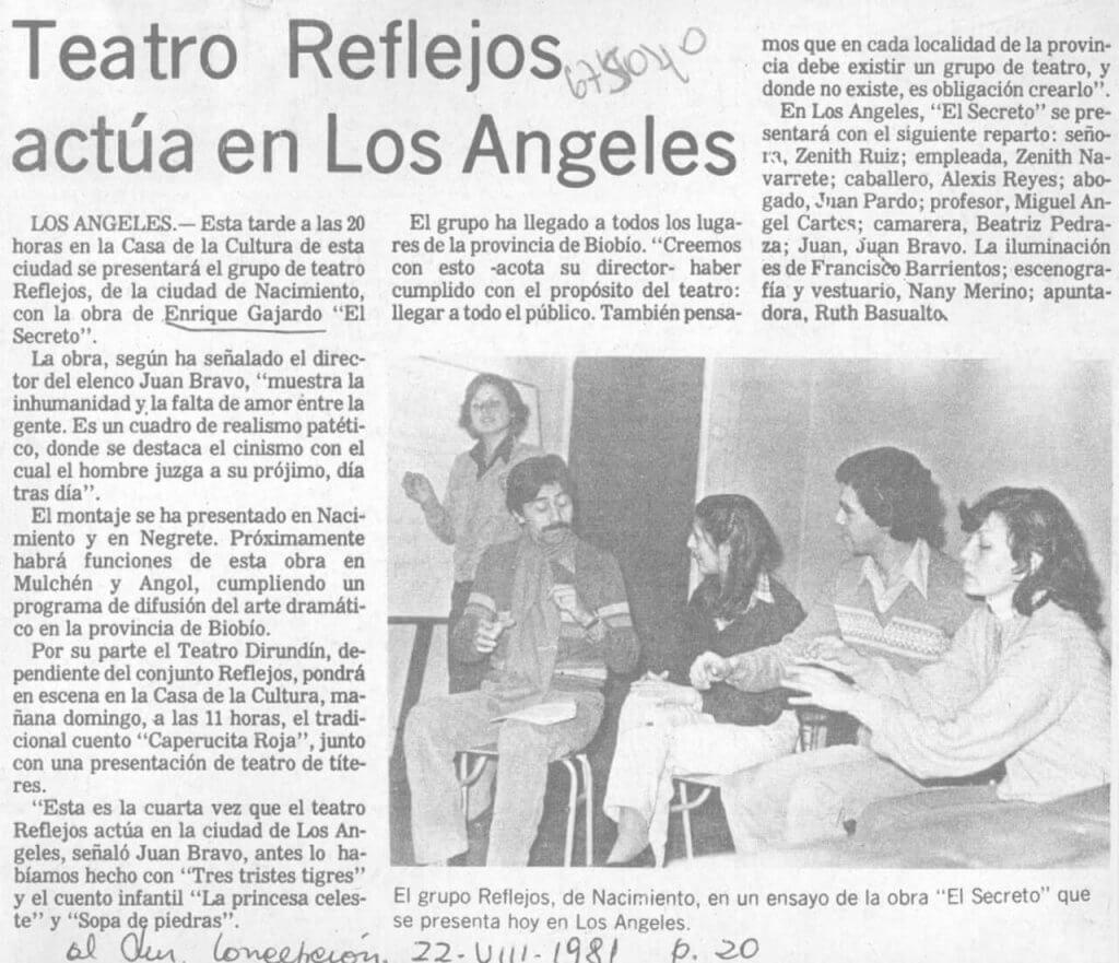 1981 - El Secreto - El Sur 22 de agosto