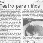 1981 - Doña Bruja y el lobo - El Sur 25 de enero - Biblioteca Nacional