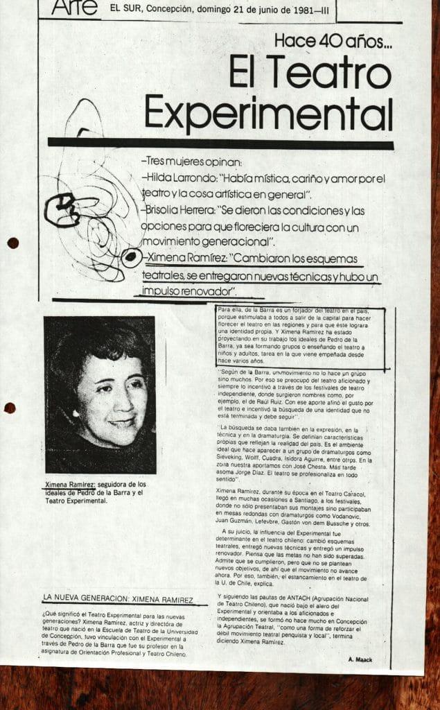 1981 - El Teatro Experimental - El Sur 21 de junio - Gentileza de Compañía de Teatro El Rostro