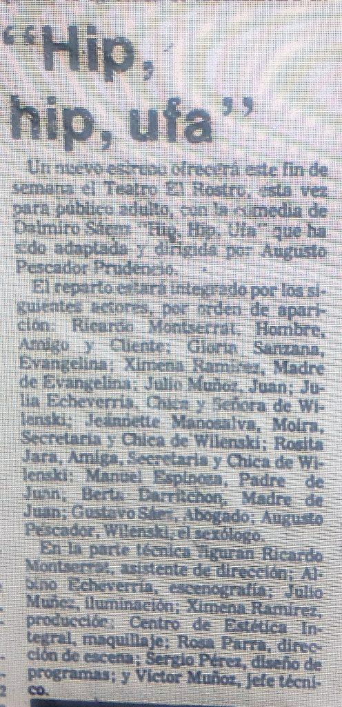 1981 - Hip hip ufa - El Sur 7 de octubre