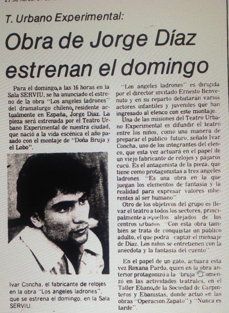 1981 - Los ángeles ladrones - El Sur 16 julio