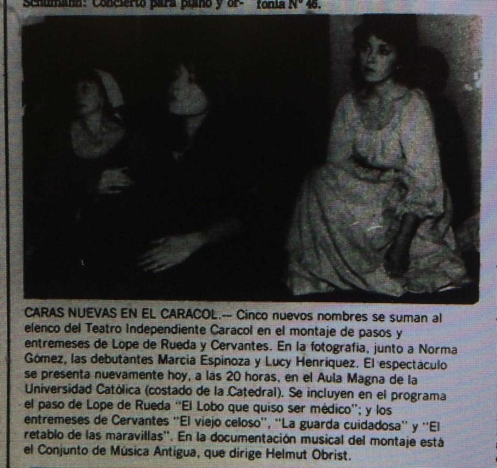 1982 - De entremeses y pasos - El Sur 23 de mayo