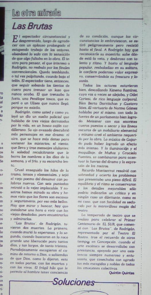 1982 - Las Brutas - El Sur 16 de agosto