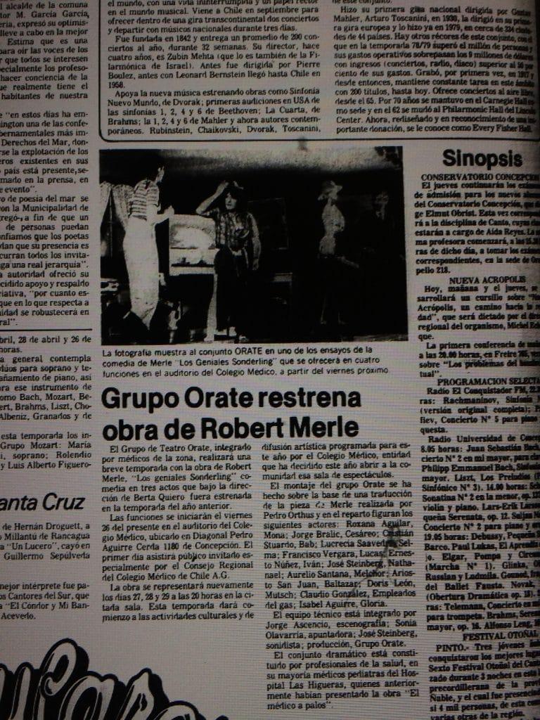 1982 - Los geniales Solderling - El Sur 23 de marzo