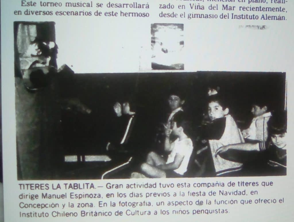 1982 - Títeres La Tablita - El Sur 30 de diciembre