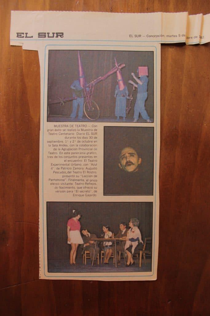 1982 - Una lección de pantomina - El Sur 5 de octubre - Gentileza de Juan Bravo