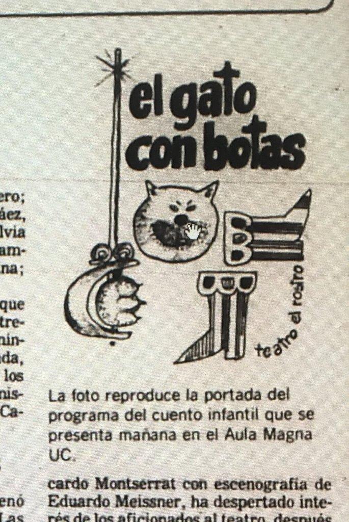 1983 - El gato con botas - portada programa de mano