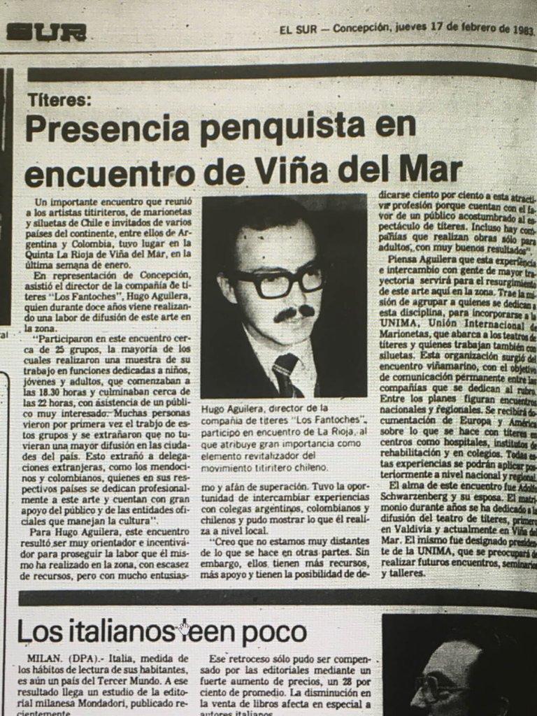 1983 - Encuentro de marionetas y siluetas - El Sur 17 de febrero
