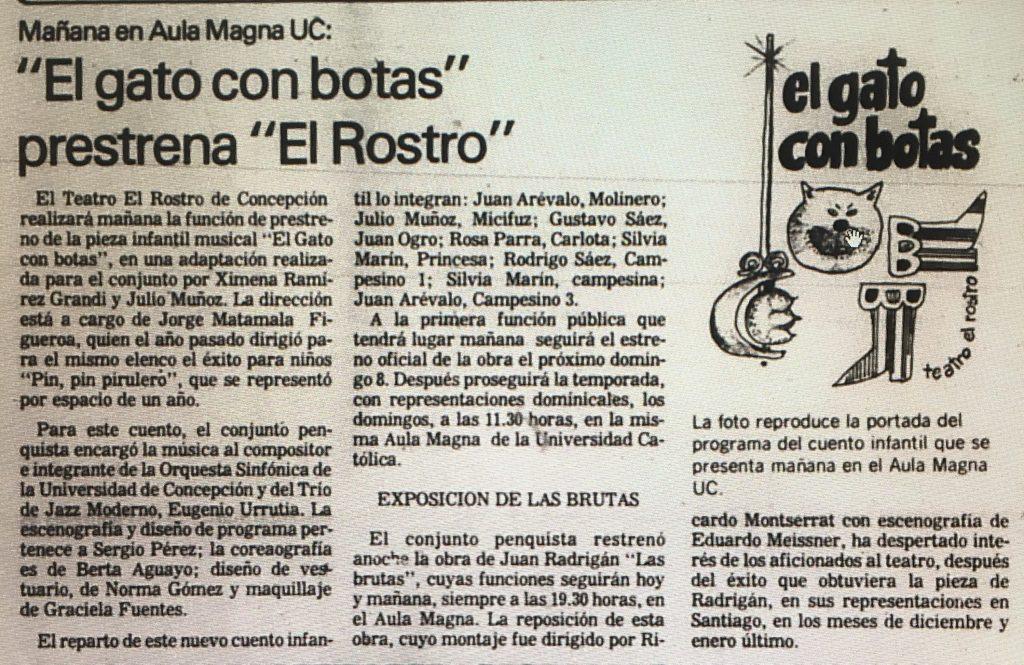 1983 - El gato con botas - El Sur 30 de abril