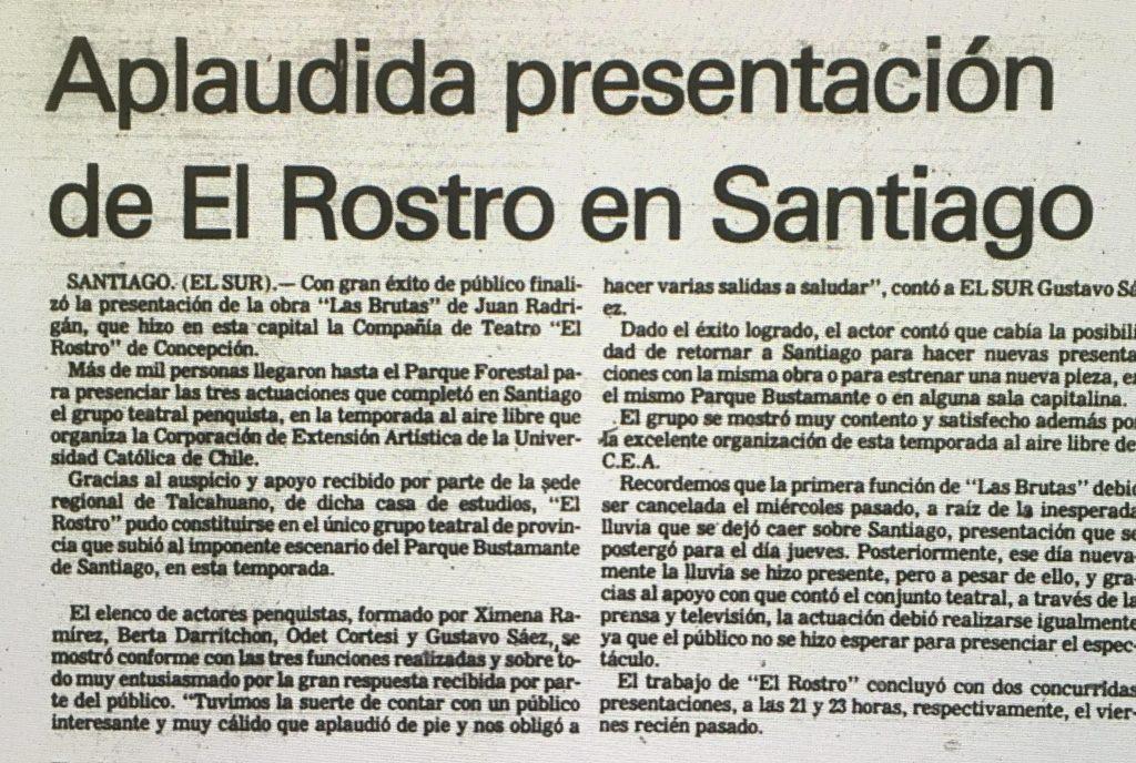 1983 - Las Brutas - El Sur 16 de enero