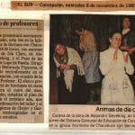 1985 - Ánimas de día claro - El Sur 6 de noviembre - Gentileza del Colegio de Profesores