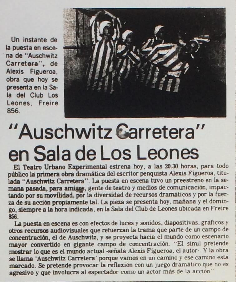 1986 - Auschwitz carretera - El Sur 11 de diciembre