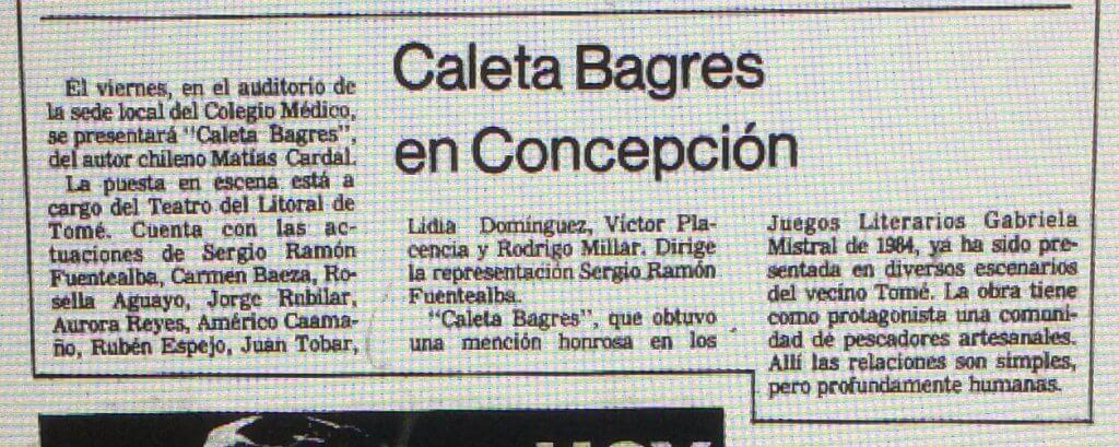 1986 - Caleta Bagres - El Sur