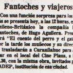 1986 - El cuento del perro y el gato - El Sur 15 de junio