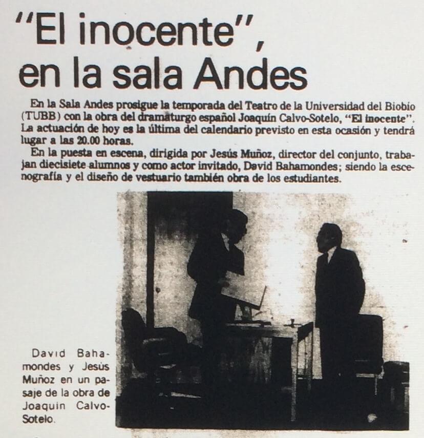 1986 - El inocente - El Sur 28 de noviembre