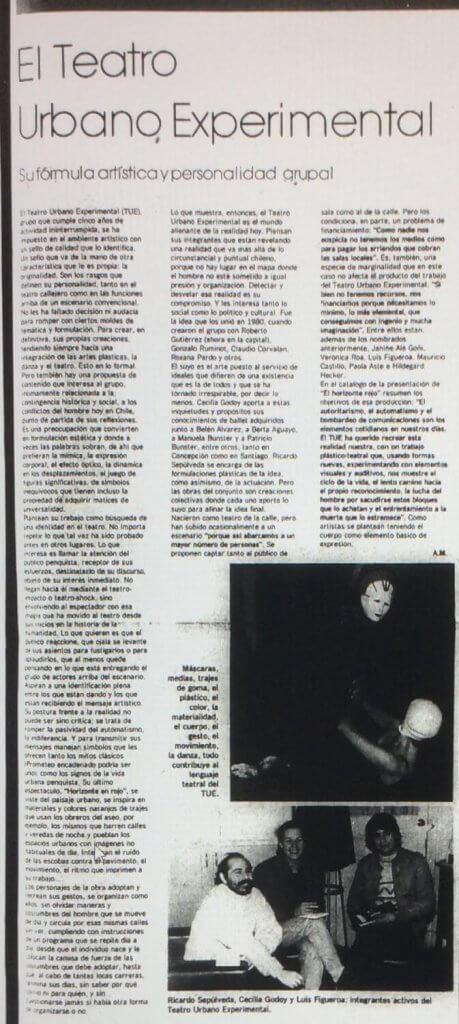 1986 - Horizonte en rojo - El Sur 27 de julio