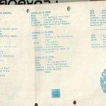 1986 - Programa 1er Encuentro de Teatro del Sur - interior - Gentileza del Colegio de Profesores