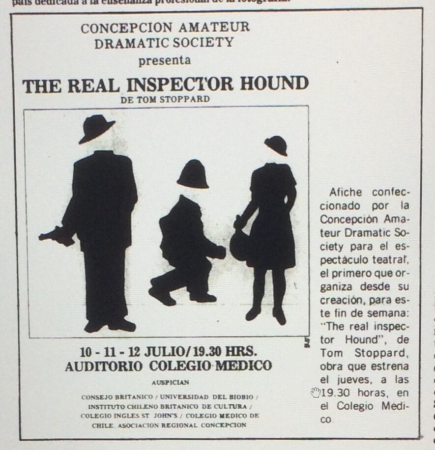 1986 - The real inspector hound - El Sur 07 de julio