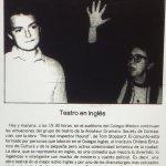 1986 - The real inspector hound - El Sur 11 de julio