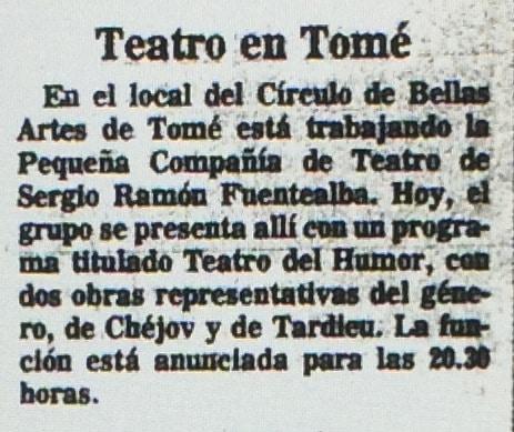 1986 - Teatro del humor - El Sur 14 de marzo