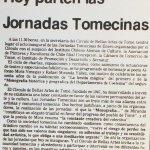 1987 - Jornadas Tomecinas - El Sur 11 de enero