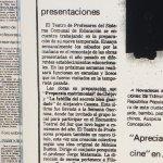 1987 - Propuesta matrimonial - La fablilla del secreto bien guardado - El Sur 30 de mayo