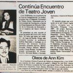 1987 - Continúa encuentro de teatro joven - El Sur