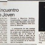 1987 - Finaliza encuentro de teatro joven - El Sur