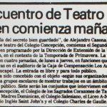 1987 - II Encuentro de teatro joven comienza mañana - El Sur