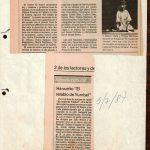 1987 - Retablo de Yumbel - El Sur 4 y 5 de julio - Gentileza de Compañía de Teatro El Rostro