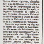 1987 - Segundo encuentro de teatro joven - El Sur