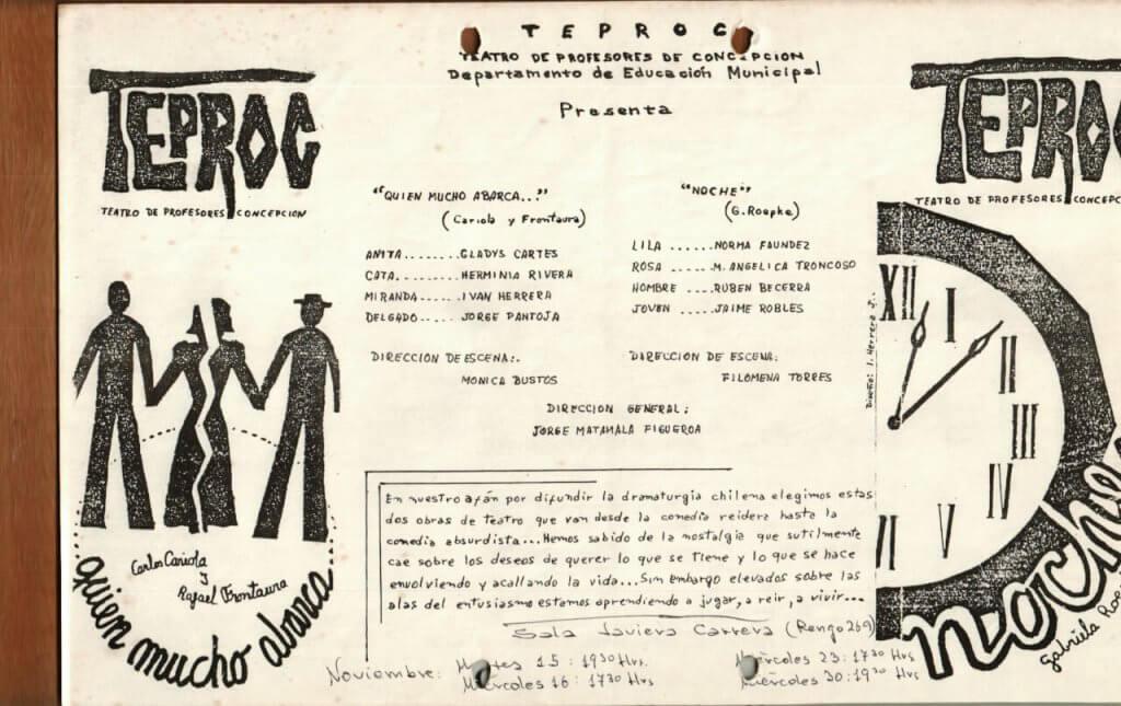1988 - Quien mucho abarca - Noche - Gentileza del Colegio de Profesores
