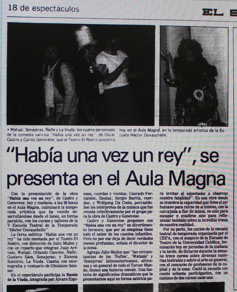 1988 - Había una vez un rey - El Sur 16 de enero