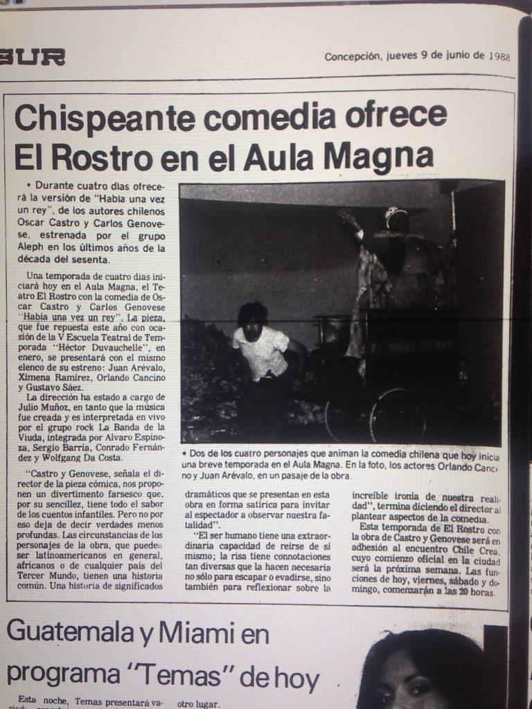 1988 - Había una vez un rey - El Sur 9 de junio