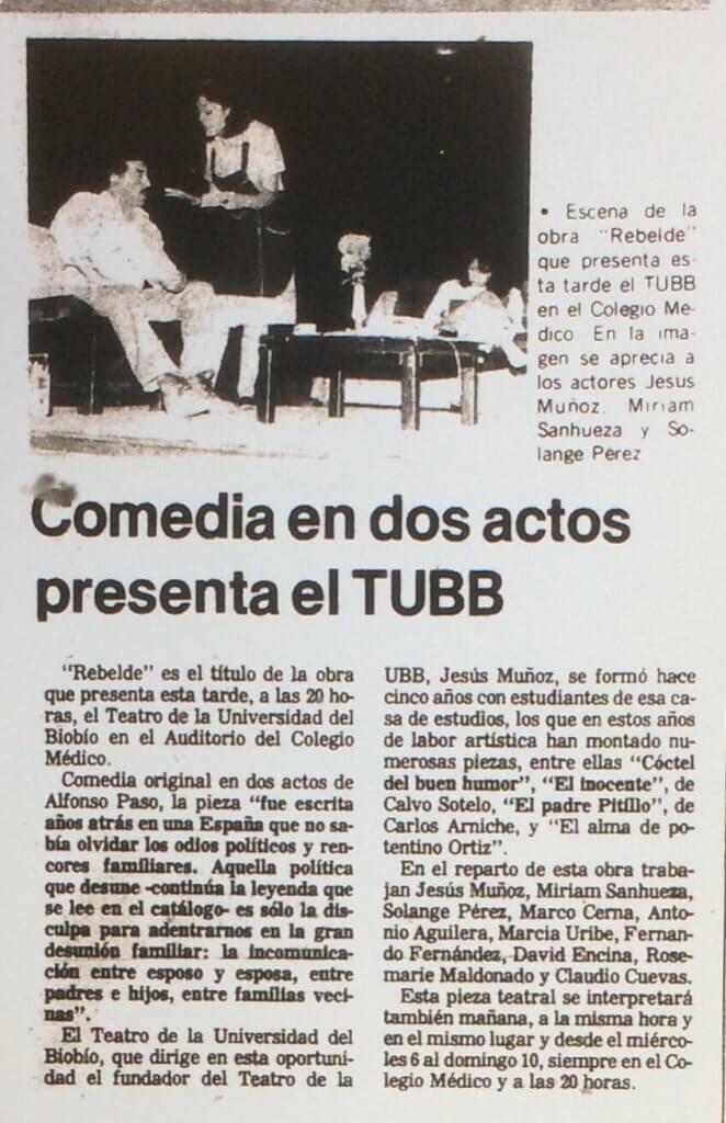 1989 - Rebelde - El Sur 2 de diciembre