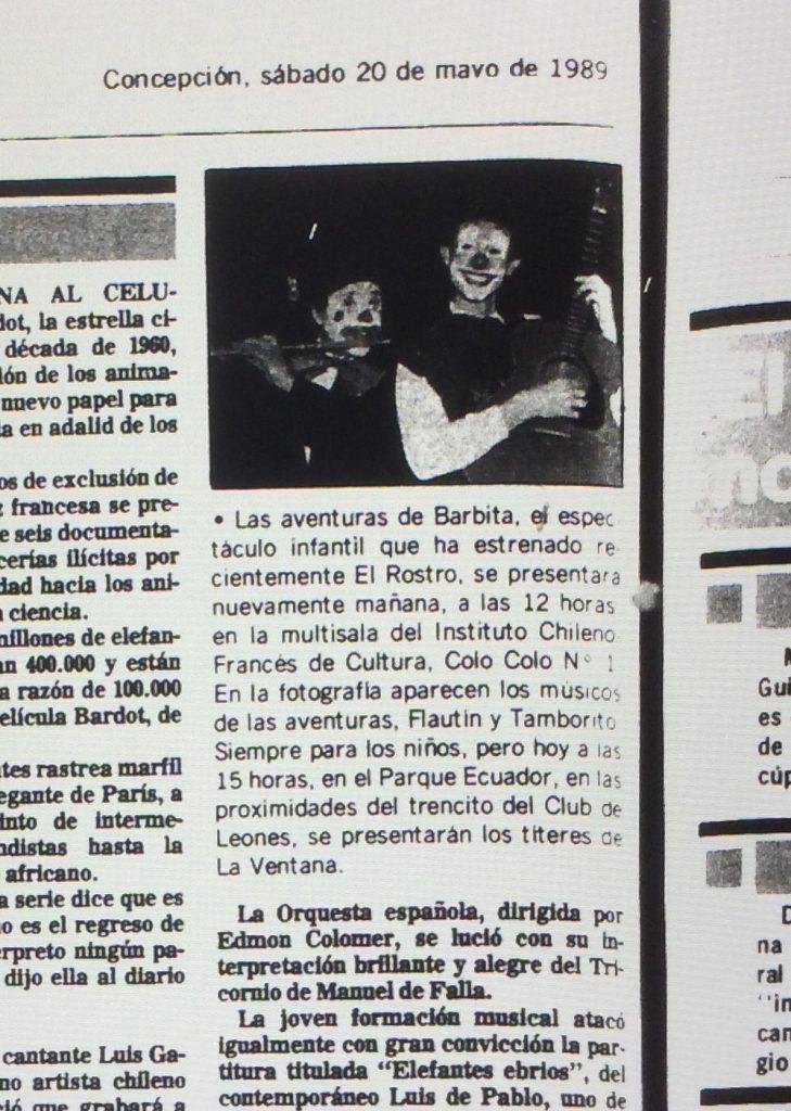 1989 - Las aventuras de barbita - El Sur 20 de mayo