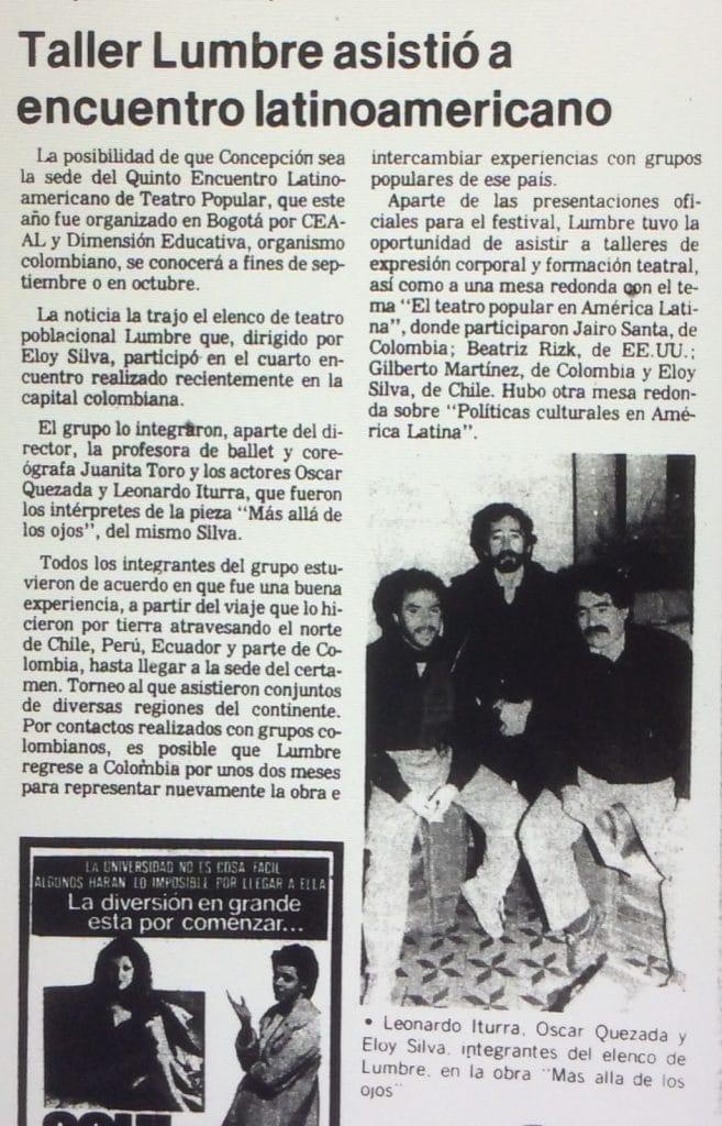 1989 - Lumbre asistió a encuentro latinoamericano - El Sur 28 de agosto