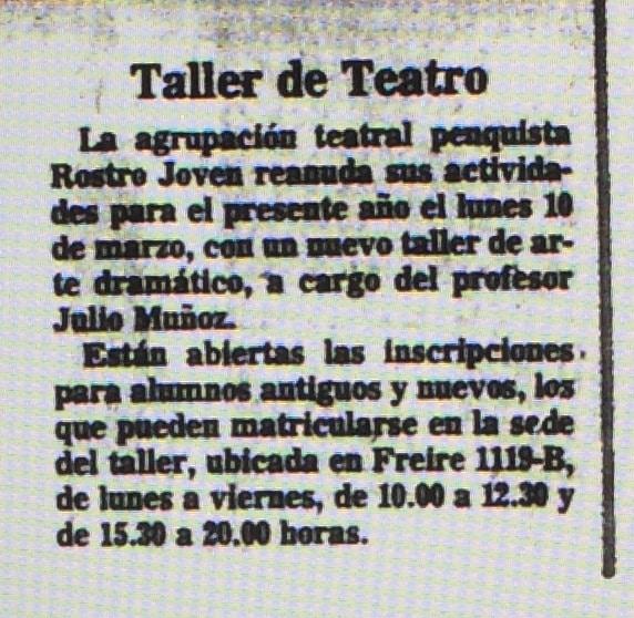 Taller de teatro - El Sur