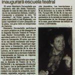 1984 - Humberto Duvauchelle inaugurará Escuela Teatral - El Sur 23 de diciembre