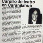 1987 - Cursillo de teatro en Curanilahue - El Sur