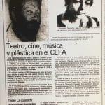 1987 - Teatro cine música y plástica en el CEFA - El Sur